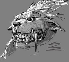 wolves running continuously siloette drawing - Google Search
