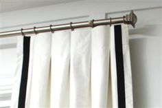 inverted pleats, drapery styles, two tone, window treatments, hardware and rings.