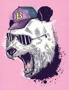 Bonito oso panda