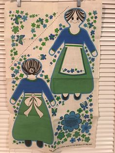Vintage 100% Linen Ireland Tea Towel Cut And Sew Doll or Shawl Neiman-Marcus