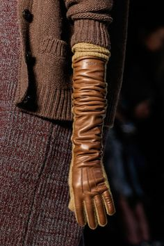 Rochas Fall 2013 Ready-to-Wear Collection Slideshow on Style.com ... brown elbow length wool & leather gloves
