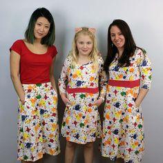 Paint Splatter Flared Skirt