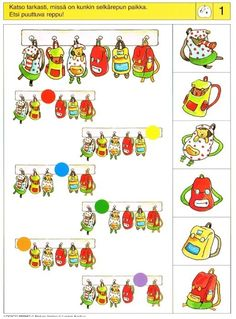 Piccolo: appel kaart 1 Visual Perception Activities, Brain Activities, Toddler Activities, Teaching Kindergarten, Fun Math, Preschool Activities, Sequencing Cards, File Folder Activities, Autism Classroom