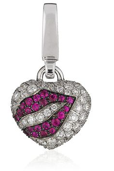 Theo Fennell Kiss My Art Charm in Silver