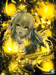 Anime GFX Design - Character name : Amatsukaze - Anime : Kantai Collection Dark Anime Girl, Anime Girl Cute, Beautiful Anime Girl, I Love Anime, Manga Art, Anime Art, Gfx Design, Cool Anime Pictures, Anime Galaxy