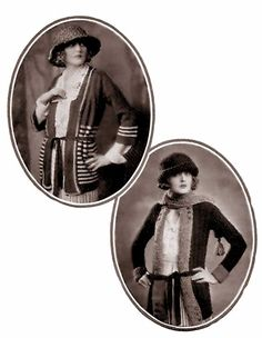 The Waltham (top left) and Burtley (bottom right) sweaters From Fleisher's Knitting and Crocheting Manual, 1922