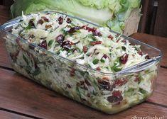 Warzywna sałatka z makaronem - Obżarciuch Raw Food Recipes, Sweet Recipes, Salad Recipes, Cooking Recipes, Vegetable Salad, Vegetable Recipes, Polish Recipes, Dinner Salads, Side Salad