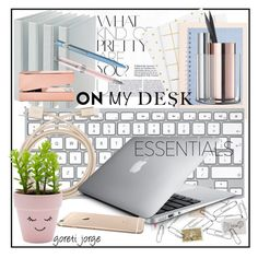 """Desk Essentials"" by goreti ❤ liked on Polyvore featuring interior, interiors, interior design, home, home decor, interior decorating, Philippi Design, Montegrappa, Belkin and Caran D'Ache"
