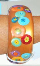 Sobral Retired Gold Klimt Interferencia Statement Bangle Bracelet From Brazil
