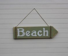 To the BEACH  Wooden Arrow Sign by kateandcass on Etsy, $