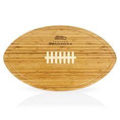 Seattle Seahawks Kickoff Football Shaped Carving Board
