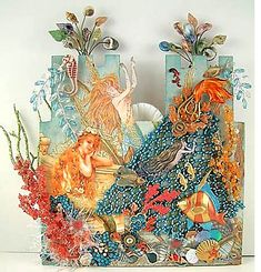 Alpha Stamps News » Mermaid Sand Castle Book Tutorial by Laura Carson