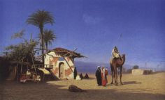 Halte au bord du Nil by Charles Théodore (Frère Bey) Frère