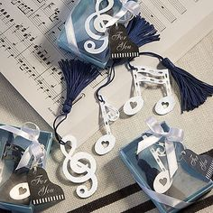 Musical Note Bookmark Favor $.89 for 96 or more