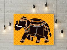 Madhubani Art, Madhubani Painting, India Painting, Painting Art, Painted Indian Elephant, Indian Wall Art, Indian Art Gallery, Rajasthani Art, Indian Illustration