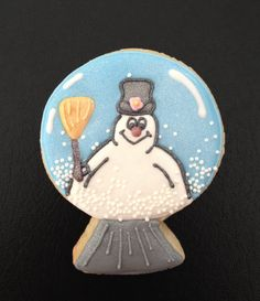 Frosty the Snowman Snowglobe Cookie.