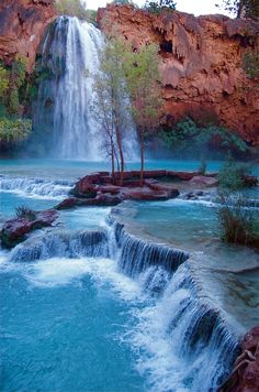 bluepueblo: Havasu Falls, Grand Canyon, Arizona photo via barbara