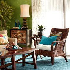 Sultan Batik Chest and room accessories - Pier One