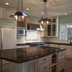 White Glazed Kitchen Subway Tiles, Transitional, Kitchen