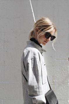 Isabel Marant jumpsuit, Mansur Gavriel crossbody bag & Céline marta sunglasses. Via Mija