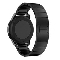 For Samsung Gear S3 Frontier Oksale Stainless Steel Replacement Wristband Smart Watch Band Strap with Metal Clasp Black -- Want to know more, click on the image.