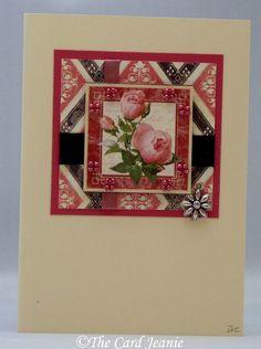 Handmade Card - Art Deco Rose £2.50