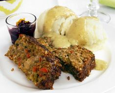 """Country """"Meatloaf"""" with Golden Gravy, again via NYT's Thanksgiving suggestions - I've been wanting to try a veggie meatloaf AND gravy for some time now; sounds great!"""