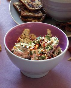 9 Easy Appetizers That Start with a Can of Tuna | Martha Stewart Living - Tuna pairs beautifully with that other fish in your pantry: anchovies. Briny capers, rich sour cream, fresh parsley and lemon juice tie all the flavors together in this sensational dip.