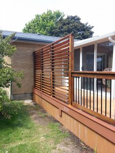 Backyard Privacy Screen - louvers. Great solution by flex fences.
