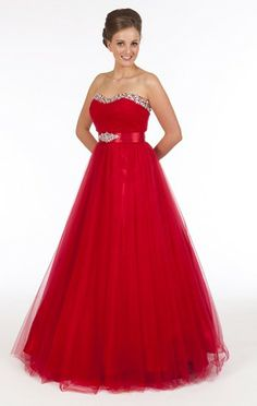 Fairytale red ball gown from Prom Frocks.