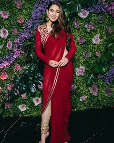TBZ jewellers appoint Sara Ali Khan as its brand ambassador. India's wellknown jewellery brand – TBZ- The Original has signed the actress Sara Ali Khan as the official Brand Ambassador. Red Saree, Saree Look, Bollywood Celebrities, Bollywood Fashion, Bollywood Actress, Bollywood Stars, Bollywood Couples, Bollywood Wedding, Indian Dresses