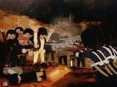 """Richard Unglik avec des playmobiles - Goya """"3 mai 1808"""""""