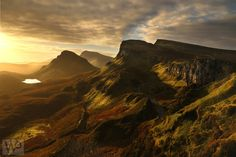 Best morning for light I have ever seen at the Quiraing Isle of skye. Beautiful Places, Beautiful Pictures, Famous Pictures, Quelques Photos, Skye Scotland, Amazing Nature, Beautiful Landscapes, Wonders Of The World, Places To See