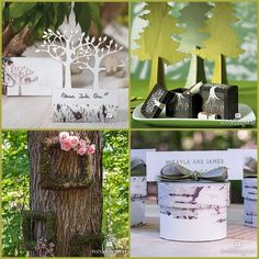 Woodland Wedding Favors from HotRef.com #woodlandwedding