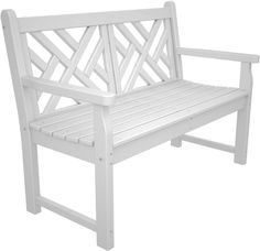 """The Poly-Wood Chippendale 48"""" Bench is inspired by the traditional style of furniture from the eighteenth-century that bares its name. The distinct lines of the 48"""" Chippendale Bench are classic in nature while its durability is second to none. The low maintenance Poly-Wood benches are available in 6 traditional color variations to suit your taste, style and decor."""