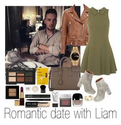 """""""Romantic Date With Liam"""" by one-direction-outfitsxxx ❤ liked on Polyvore featuring NARS Cosmetics, Sephora Collection, Topshop, Stila, Bobbi Brown Cosmetics, Givenchy, Acne Studios, Yves Saint Laurent, Madewell and Marc Jacobs"""