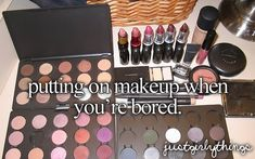 Putting on makeup when you're bored - just girly things Little Things, Girly Things, Girly Stuff, Random Things, Random Stuff, Putting On Makeup, Justgirlythings, Girly Quotes, Quotes Quotes