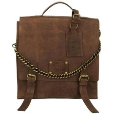 O My Bag Frankie Fierce Eco-Indian Brown ($280) ❤ liked on Polyvore