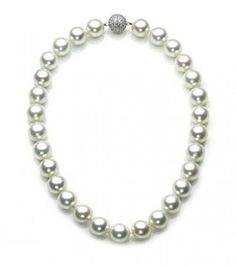 Bling Jewelry 12mm South Sea Shell White Pearl Bridal Necklace 16in 18in