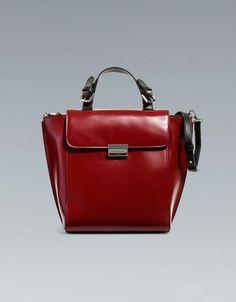 SHOPPER WITH METALLIC CLASP - Handbags - Woman - ZARA United States