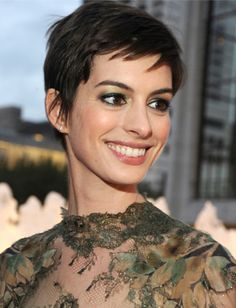 anne hathaway pixie cut. love it, but could never pull it off myself.