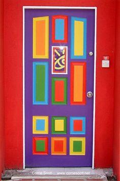 bright colorful door