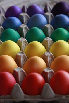 Regenboog eieren Pasen - Easter rainbow eggs