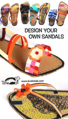 Design your own sandals Projects For Kids, Crafts For Kids, Art Lessons Elementary, Crafty Kids, Preschool Art, Art Lesson Plans, Recycled Art, Art Classroom, Summer Crafts