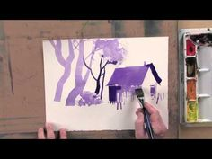 In Brushwork Techniques for Expressive Watercolor, playing now on http://ArtistsNetwork.tv, Sterling Edwards shares his brush techniques, giving you the tools you need for expressive watercolor paintings. Practice exercises to learn best uses and fun application techniques for flat, round and bristle brushes. Then follow along as Sterling puts them all together to paint a snowy landscape study from start to finish.