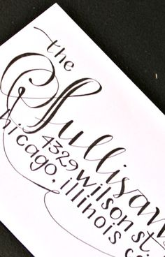 Hand Lettered Envelope Service by PeeteyandPeaches on Etsy