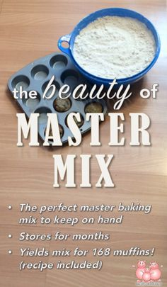 This master baking mix recipe is a wonderful way to save both time and money! Stores for months!