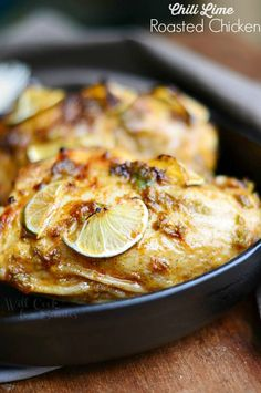 Chili Lime Roasted Chicken, easy and finger-licking good!  from willcookforsmiles.com