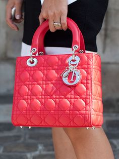 Couture Week Street Style, a gorgeous Lady Dior bag