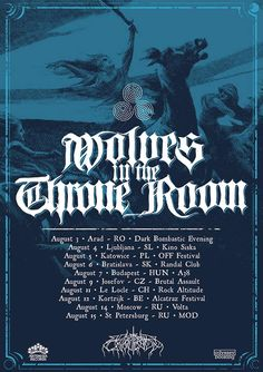 Wolves in the Throne Room, Europe Tour, August 2017